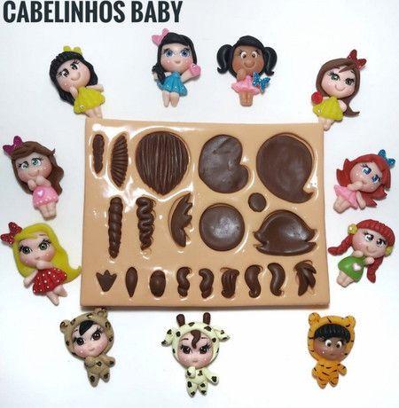 Molde Cabelinhos Baby