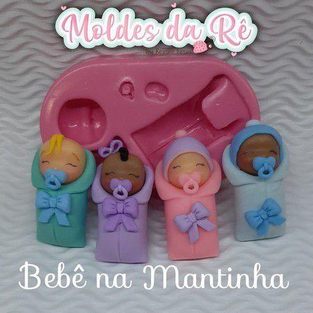 Molde Bebê na Mantinha