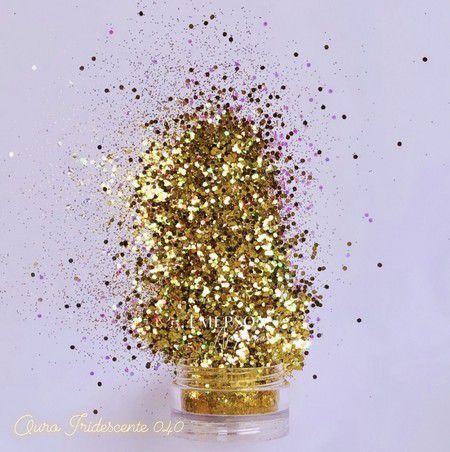 Glitter Ouro Iridescente