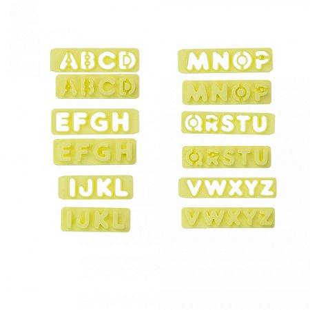 Conj. de Réguas Cort. de Letras 2 cm c/ expulsador