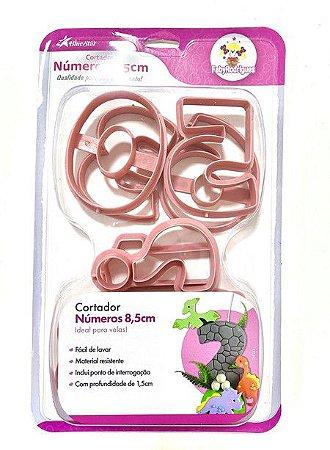 Cortador Números 8,5cm - Rosa