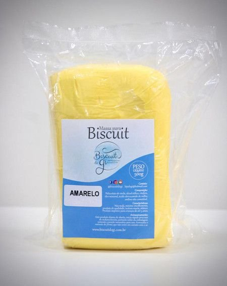 Massa para Biscuit - Amarelo