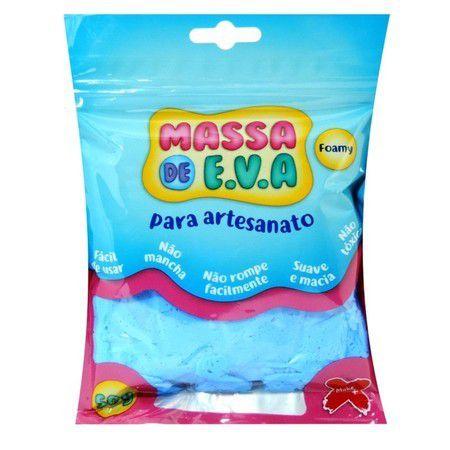 Massa de EVA Lisa 50g Azul Claro