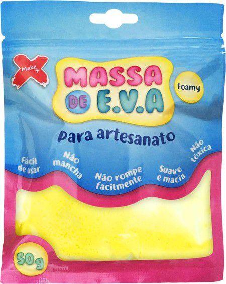 Massa de EVA Lisa 50g Amarelo