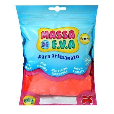 Massa de EVA Lisa 50g Vermelho
