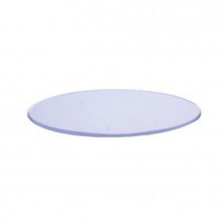 Base Oval Transparente 11x5  c/ 10 unidades