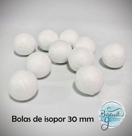Bola de isopor 30mm - 10 unidades