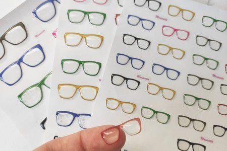 Óculos Transparente Resinados Cód. 525 c/ 3cm