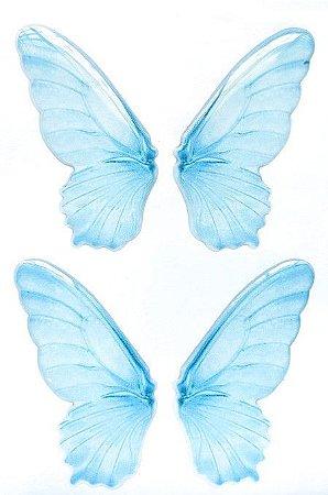 Asas Transp. Resinadas Cód. BO 01 Azul 6,5cm