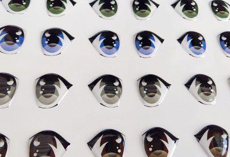 Olhos Adesivos Resinados Cód. 383