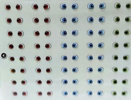 Olhos Adesivos Resinados Cód.410