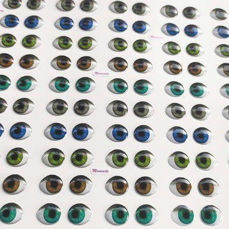 Olhos Adesivos Resinados 537M com 40 pares