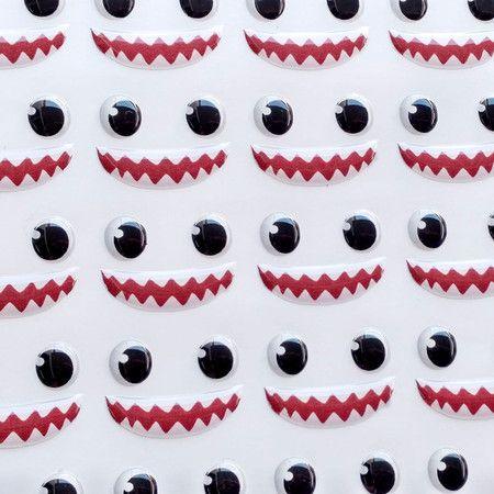 Olhos Adesivos Resinados 351PP com 42 pares