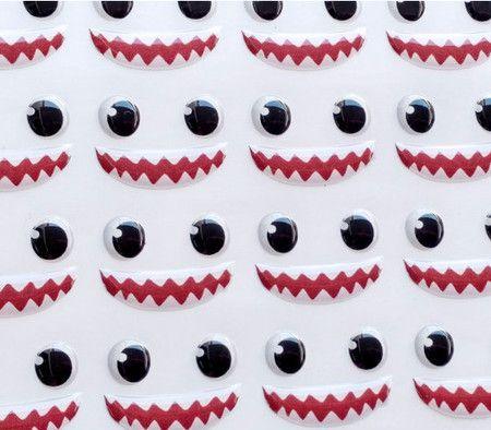 Olhos Adesivos Resinados 351P com 42 pares