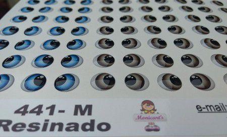 Olhos Adesivos Resinados 441 M com 49 pares