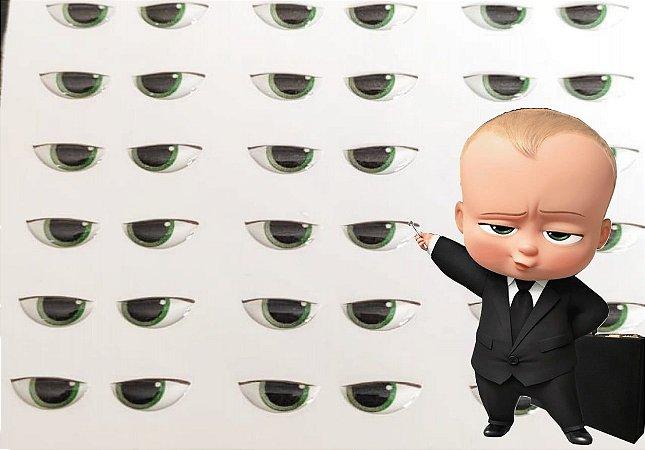 Olhos Adesivos Resinados Meia Cartela Cód 430B