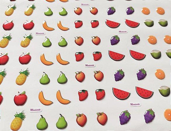 Cartela Adesiva Resinada Frutas Combo