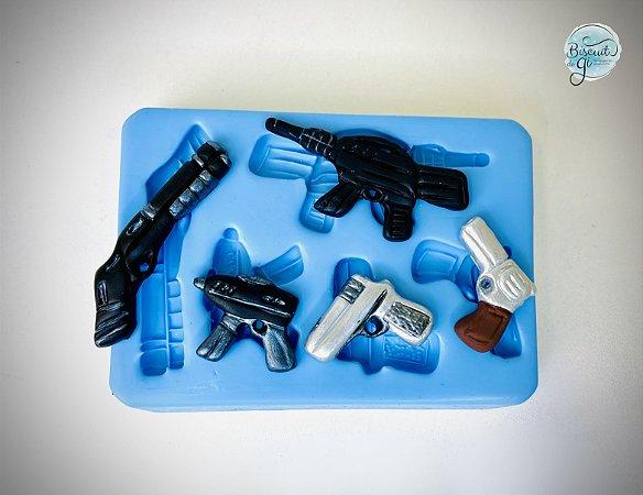 Molde Armas de Fogo - Biscuit do Gi