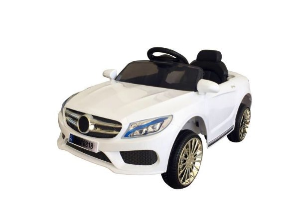 Mini Carro Elétrico Infantil 6v com Controle Remoto Branco - BW007BR da Importway