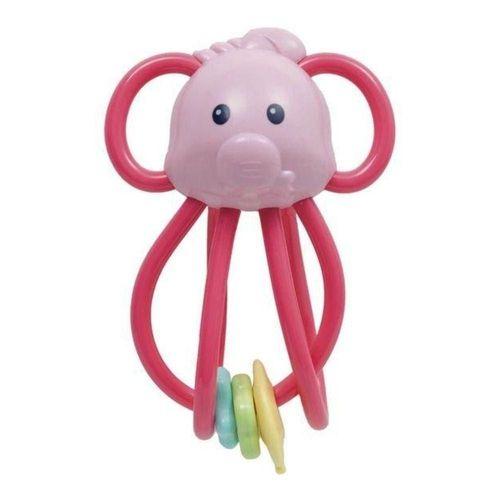 Elefantinho Chocalho Divertido Rosa Buba