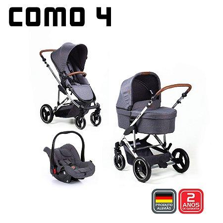 Carrinho de Bebê Travel System Trio Como 4 Diamond Asphatl (Com Bolsa)  da Abc Design