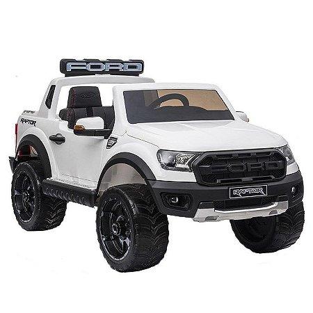 Mini Caminhonete Elétrica 24V Ford Ranger Raptor Licenciado Branco - BW121BR da ImportWay
