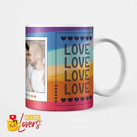 Caneca Love Love Love - Personalizável com Foto