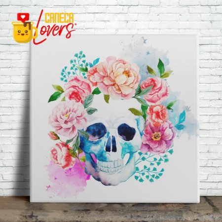 "Azulejo ""Caveira Flowers"""