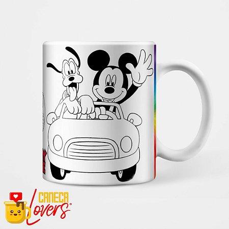 Caneca para Colorir - Mickey