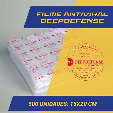 Embalagem Saco a Vácuo  15 x 20 cm - Antiviral DeepDefense- 500 unidades
