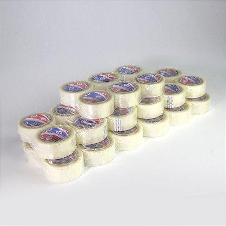 Caixa 32 Fita Adesiva Multiuso Incolor Hot Melt 45 mm X 40 Metros