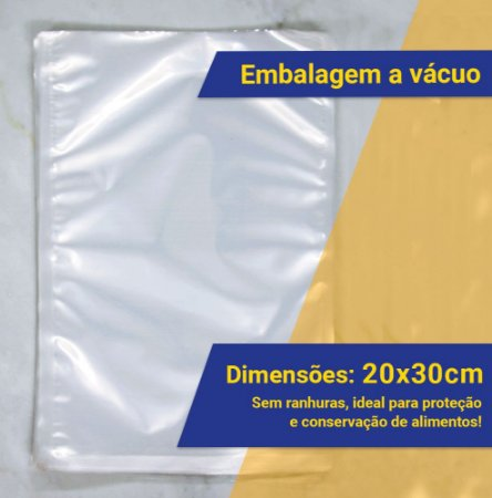 Embalagem Saco a Vácuo 20 x 30 cm - Milheiro (1.000 unidades)