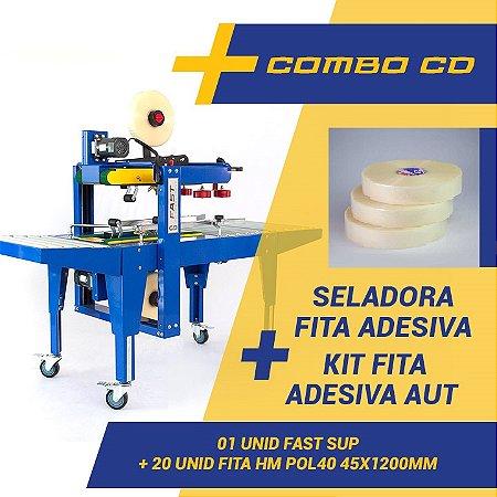 Fechadora De Caixa Superior E Inferior + Kit 20 Fita Adesiva Aut