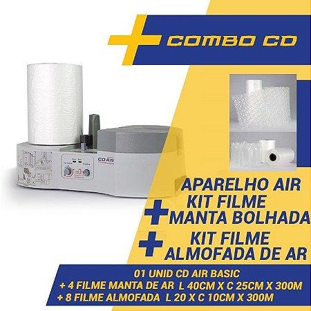 Maquina CDAIR Compact Para Almofada De Ar + Kit 8 Filmes Almofada De Ar + Kit 4 Filmes Manta Bolhada