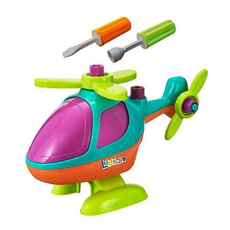 Helicóptero De Brinquedo Mãos Obra Monta Desmonta Didático