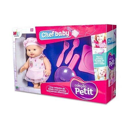 Boneca Coleção Petit Chef Baby Milk Cozinha Brinquedo