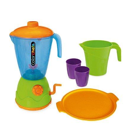 Kit Liquidificador Color Chefs Cinco Acessórios Master Brinquedo