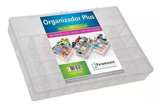 Caixa Organizadora Grande Box Multiuso Plus 34 Divisórias