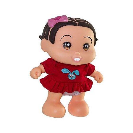 Boneca Turma Da Mônica Baby Mônica Fala e Canta