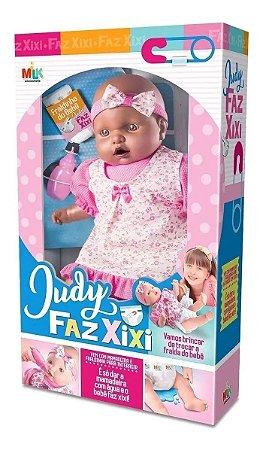 Boneca Grande Judy Negra Faz Xixi Com Mamadeira E Fraldinha*