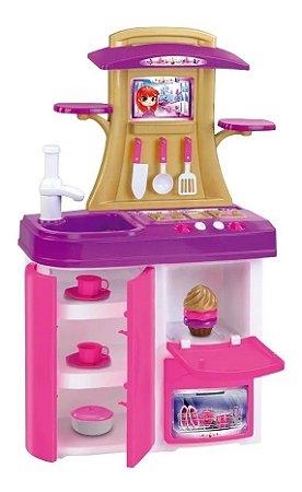 Cozinha Infantil C/ Som Luz E Acessórios Princess Meg