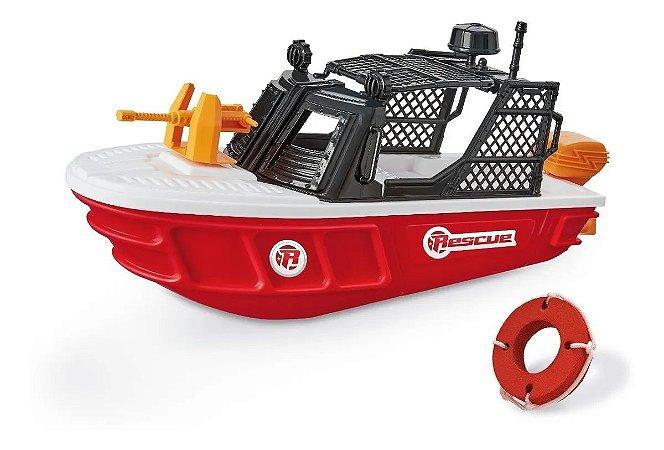 Barco Rescue Team 470 Miniatura Plástico Com Acessórios