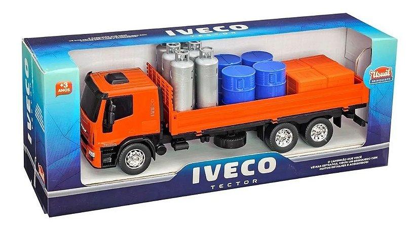 Caminhão Miniatura Iveco Tector Com Acessorios Usual