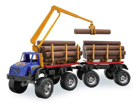Caminhão Gigante Bitrem Carrega Madeira Tora Truck Com Garra