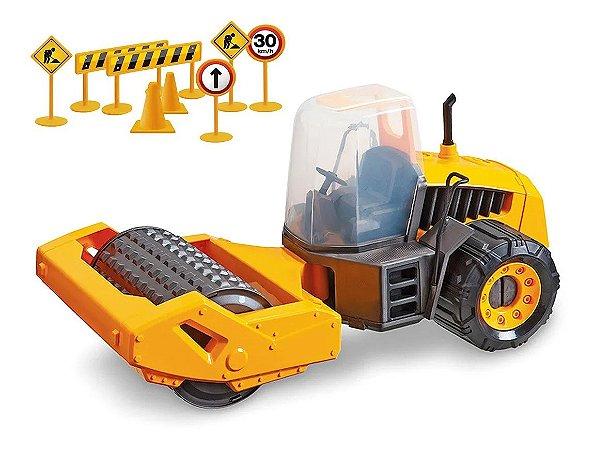 Trator Brinquedo Compactador Construction Machine Gigante