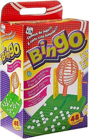 Bingo Completo Para Toda a Família com Globo Giratório e 48 Cartelas