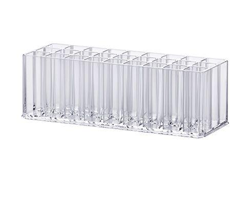 Organizador de Pincéis e Gloss 23 x 8,5 x 7,5 cm - Transparente