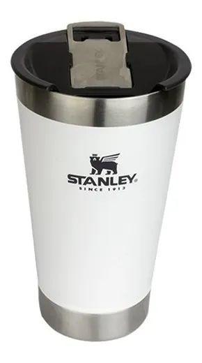 Copo Térmico Para Cerveja Com Tampa Branco 473ml Stanley