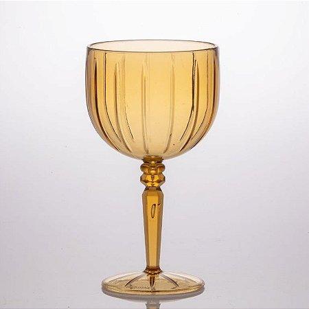 Taças Gin Tônica Drink Liv 480ml Plástico Luxo 1676 Ambar