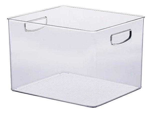 Organizador Transparente Multiuso C/ Alça 25x25x17cm - 1073